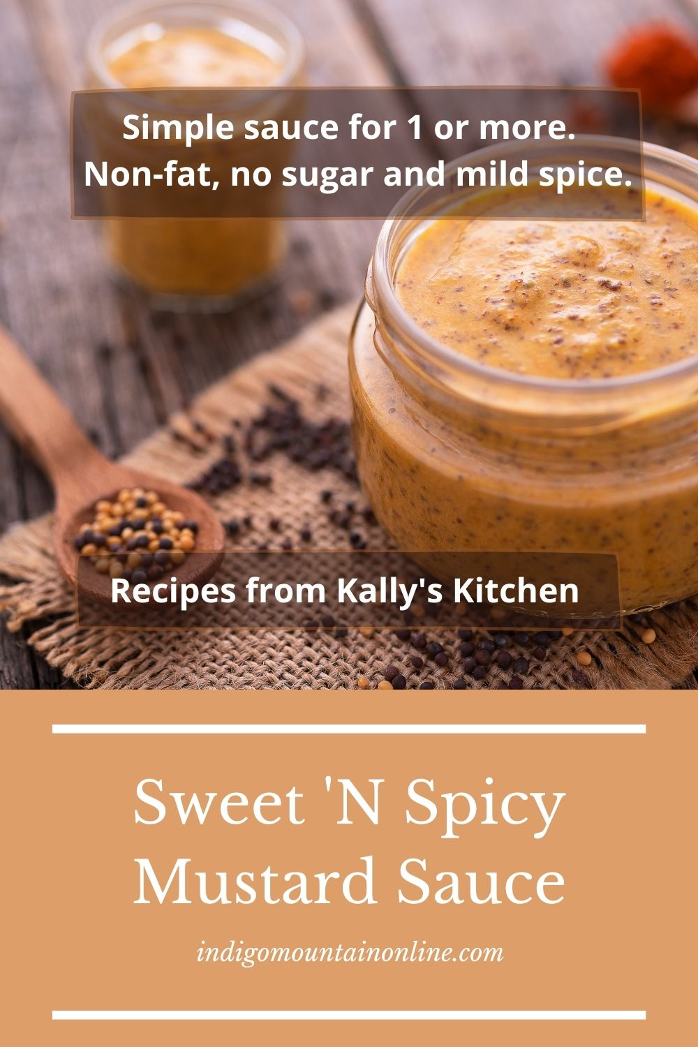 Pin image for a Sweet 'n spicy mustard sauce
